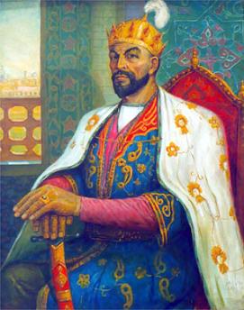 Тамерлан (Тимур; 9 апреля 1336, с. Ходжа-Ильгар, совр. Узбекистан — 18 февраля 1405, Отрар, совр. Казахстан